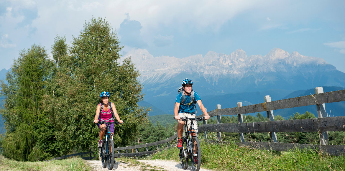 Mountainbiking in the Latemar mountains